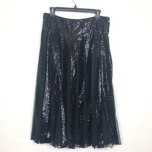 Ralph Lauren Black Sequinned and Tulle skirt NWT